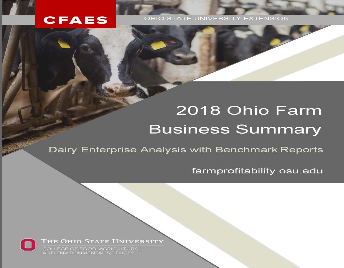 2018 Ohio dairy summary